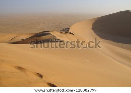 Desert dunes in Namibia - stock photo