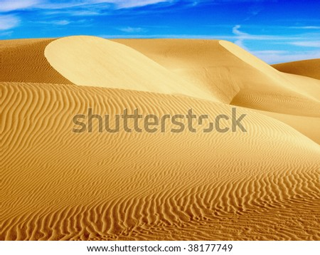 Desert Dunes in Western Egypt - stock photo