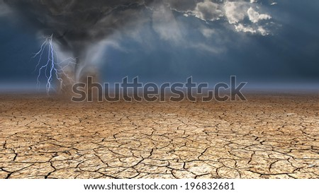 Desert Dust Devil - stock photo
