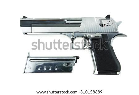 Desert Eagle airsoft gun on a white background. - stock photo