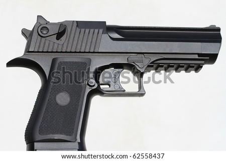 Desert eagle gun isolated on white - stock photo