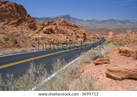 Desert Highway - stock photo