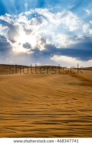 Desert in Dubai, United Arab Emirates