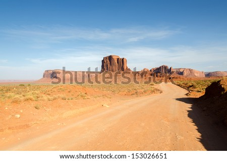 desert in Monument Valley in Utah