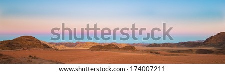 Desert in the morning - stock photo