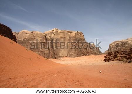 Desert in Wadi Rum, Jordan - stock photo