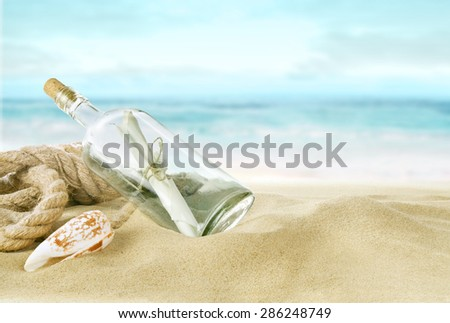 Desert island - stock photo