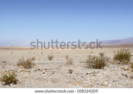 Desert landscape in Death Valley National Park, California - stock photo
