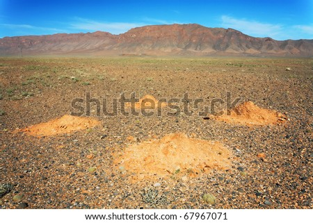 Desert landscape in Middle Atlas Mountains, Morocco, Africa - stock photo