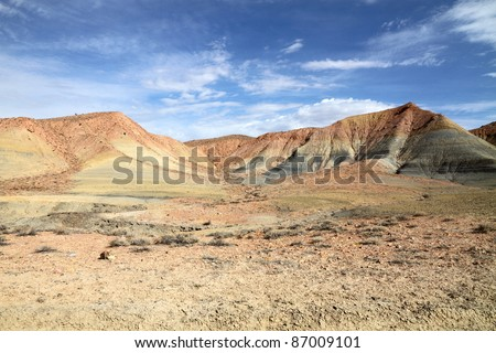Desert landscape in Page, Arizona - stock photo