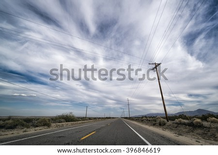 Desert Landscape in the Anza-Borrego Desert, California,  USA