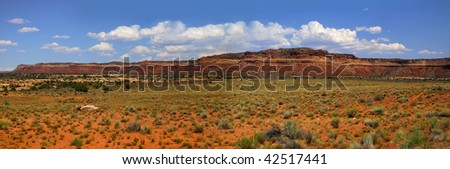 Desert landscape in the Arizona