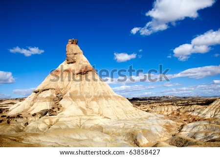 desert landscape with mountain and sky