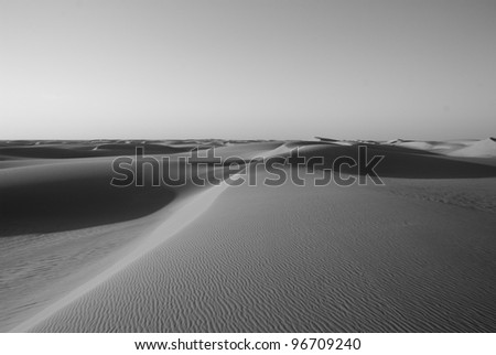Desert lines - stock photo