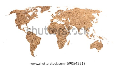 Outline map world filled long grain stock photo 616632554 desert map of the world gumiabroncs Image collections