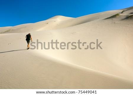 desert - mongolia - stock photo