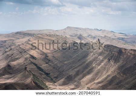 desert mountains - stock photo