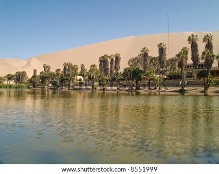 Desert of Ica, Peru - stock photo