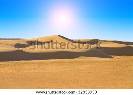 desert of sahara - stock photo