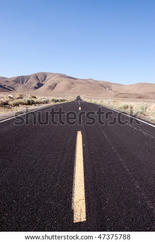 Desert road in the southwestern United States