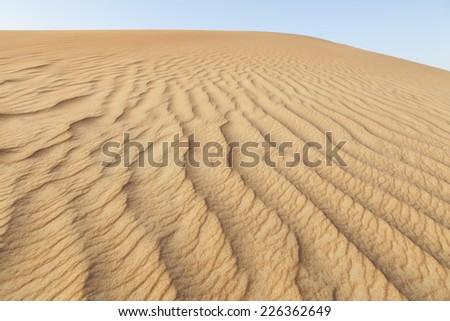 desert safari and suv track in dubai - stock photo