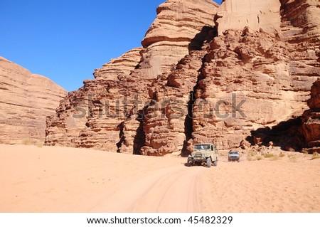 desert safari in Jordan - stock photo