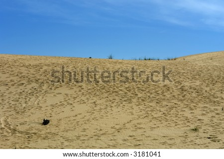 desert sand and the sky in the north of spain - stock photo
