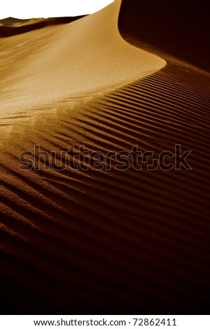 Desert sand dune - stock photo