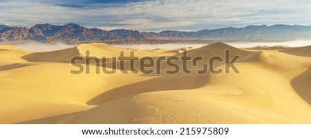 Desert Sand Dunes at Death Valley National Park - stock photo