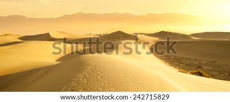 Desert Sand Dunes, Death Valley National Park - stock photo