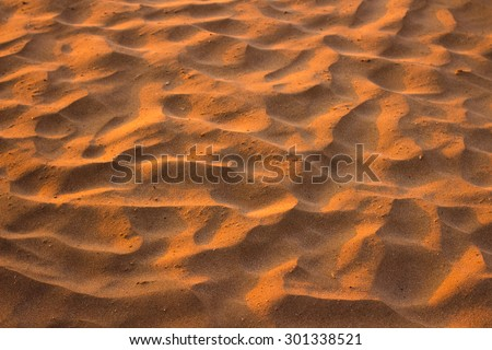 Desert sand pattern texture background from the sand in Sharm el-Sheikh, Egypt - stock photo