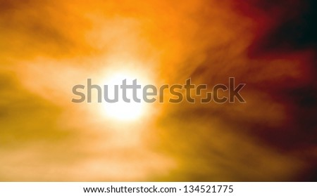 Desert sandstorm - stock photo
