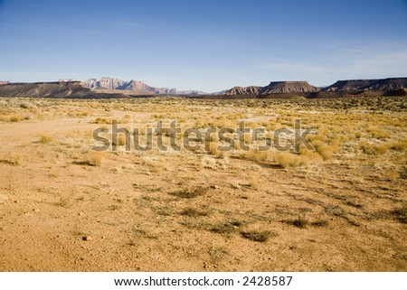 Desert scene in Southern Utah near the Arizona border - stock photo