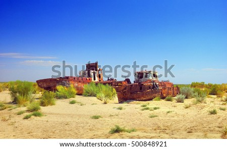 The background of the aral sea