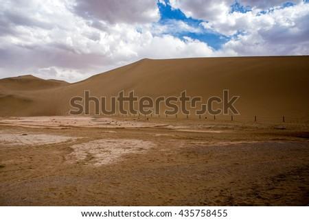 Desert Silk Road, Dunhuang - stock photo