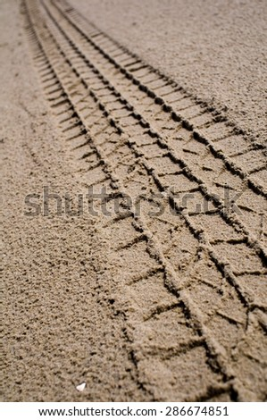 Desert Traces - stock photo