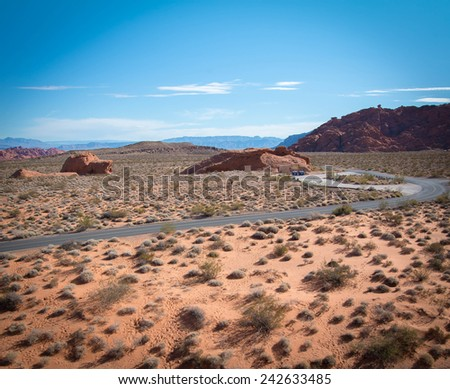 Desert,  Valley of Fire state park near Las Vegas, Nevada - stock photo