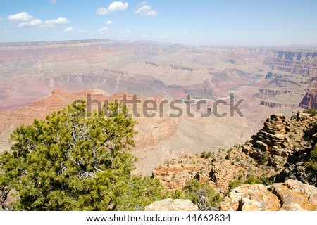 Desert View overlook - stock photo