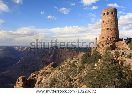 Desert view watch tower at grand canyon national park
