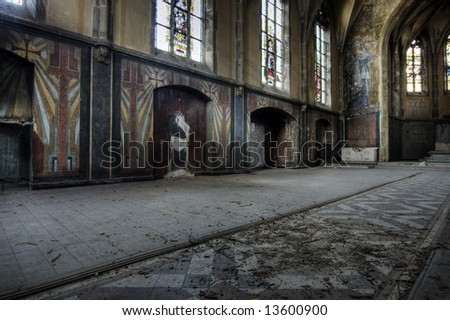 Deserted Church - stock photo