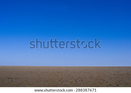 Deserted Coastal Landscape - stock photo
