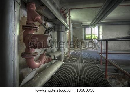 Deserted Factory - stock photo