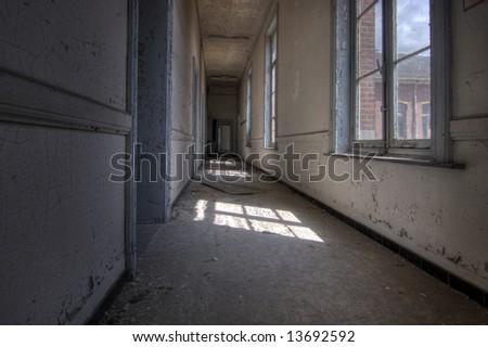 Deserted Hallway - stock photo