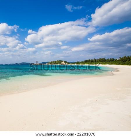 Deserted Japanese tropical island - stock photo