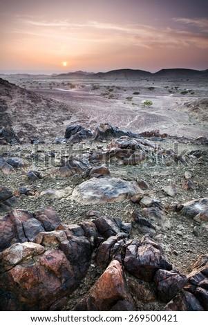 Deserted sunrise. - stock photo