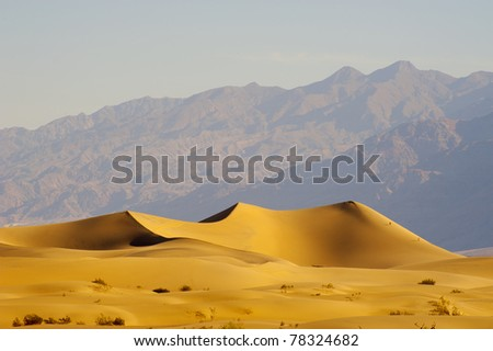 Deserts Sand dune with wind blowing sand