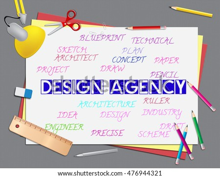 Design agency meaning artwork creative services stock illustration design agency meaning artwork and creative services malvernweather Image collections