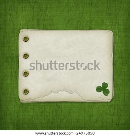 Design album for St. Patrick's Day with leaf clover - stock photo