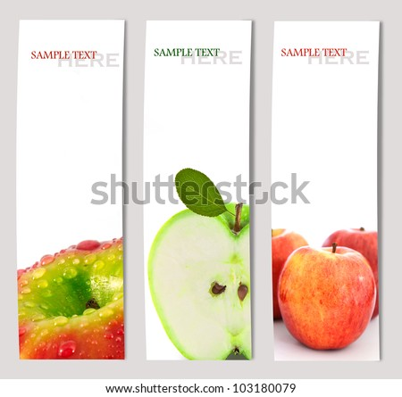 Design background of apple brochure  template - stock photo