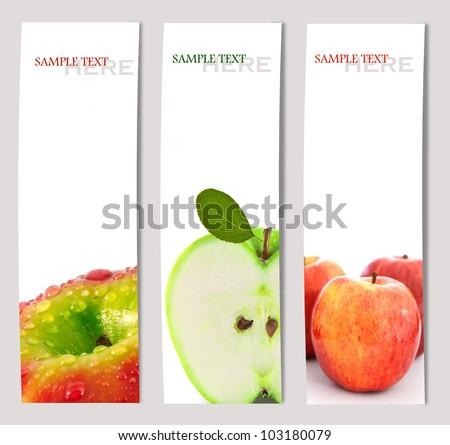 Design background of apple brochure  template - stock photo